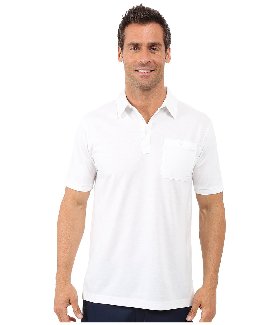 TravisMathew Alvin Polo White Mens Short Sleeve Pullover