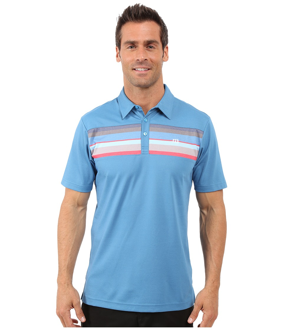 TravisMathew Little Polo Deep Water Blue Grotto Mens T Shirt