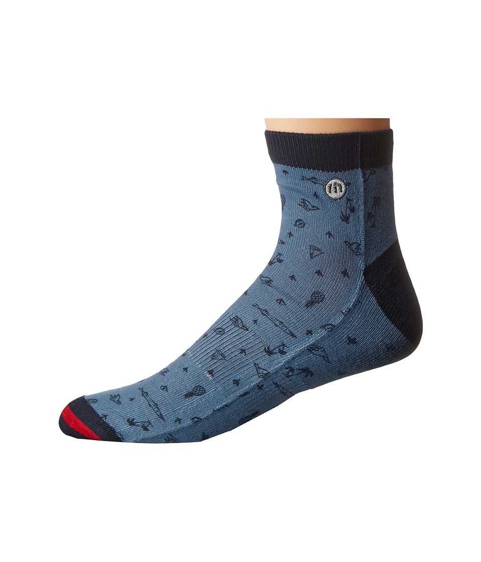 TravisMathew Wharf Socks Provincial Blue Mens Crew Cut Socks Shoes