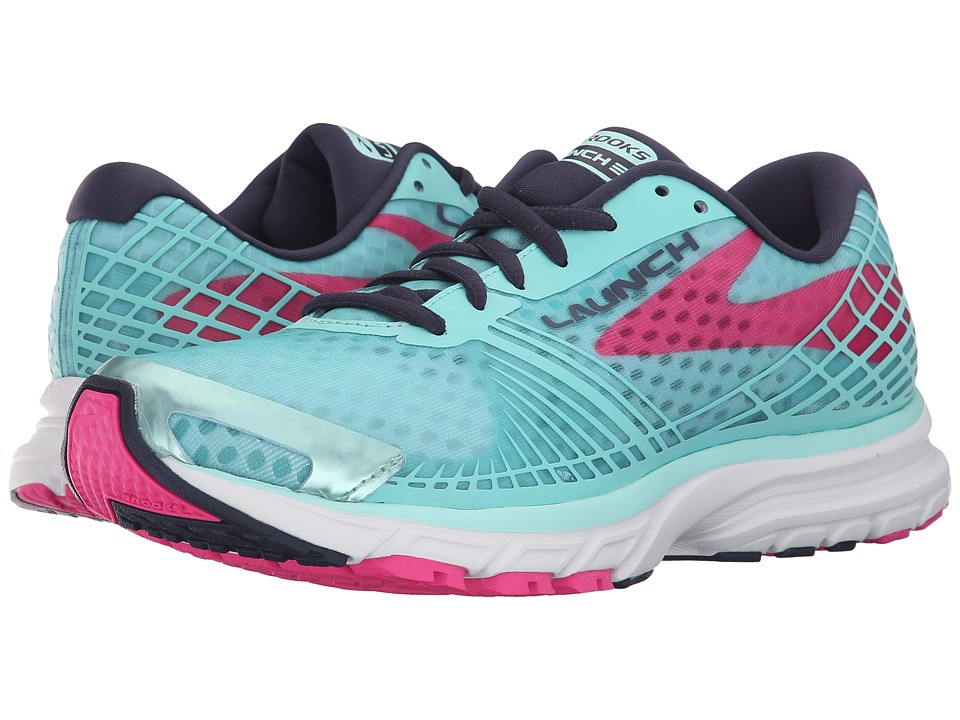 Brooks Launch 3 (Blue Tint/Pink Glo/Peacoat) Women