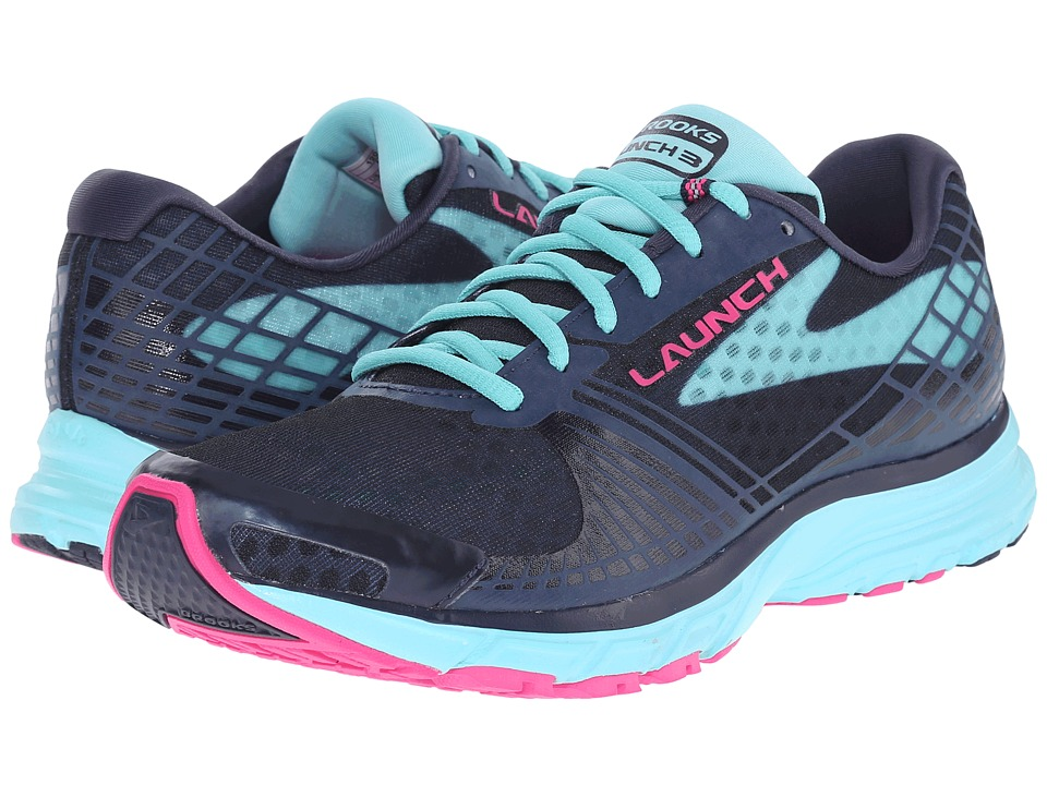 Brooks Launch 3 (Peacoat/Blue Radiance/Pink Glo) Women