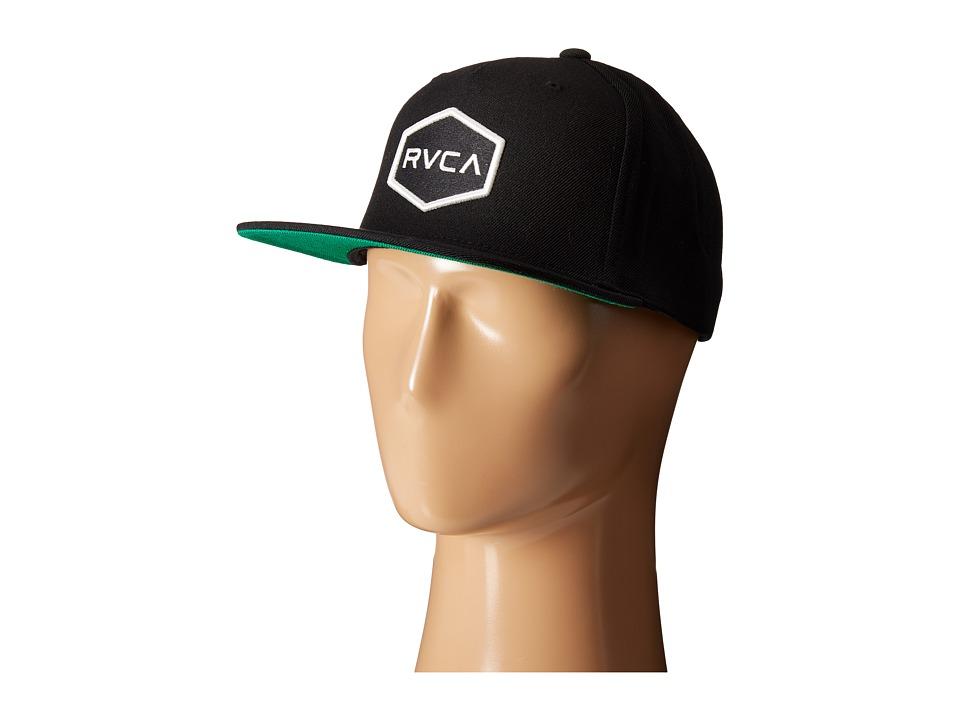 RVCA Commonwealth Snapback Black/White Baseball Caps