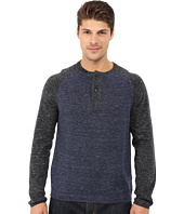 Agave Denim - Long Sleeve Henley Fine Gauge Color Block