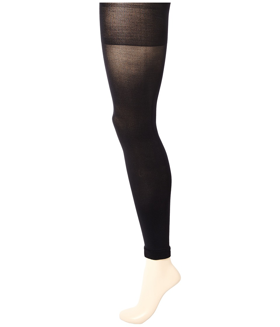Spanx Luxe Leg Footless Shaping Tights Very Black Hose