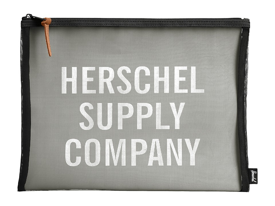 Herschel Supply Co. - Network XL - Mesh (Black/White Screenprint) Travel Pouch