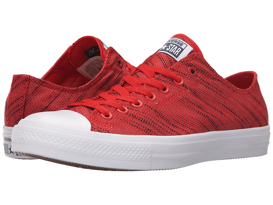 Converse Chuck Taylor All Star II Knit Ox Red/Black/White Textile Athletic Shoes