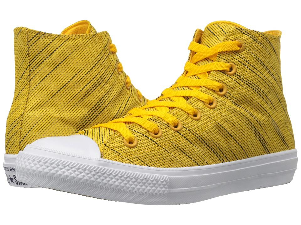Converse Chuck Taylor All Star II Knit Hi Yellow/Black/White Textile Athletic Shoes