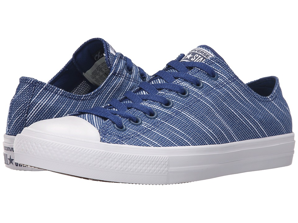 Converse Chuck Taylor All Star II Knit Ox Roadtrip Blue/White/Navy Textile Athletic Shoes