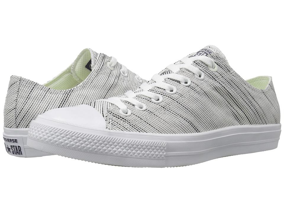 Converse Chuck Taylor All Star II Knit Ox White/Black/White Textile Athletic Shoes