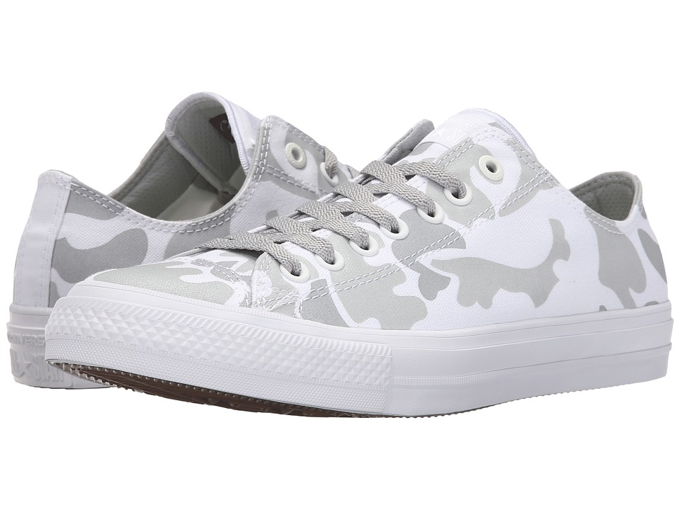 Converse Chuck Taylor All Star II Reflective Camo Americana Ox White/Mouse/White Textile Athletic Shoes