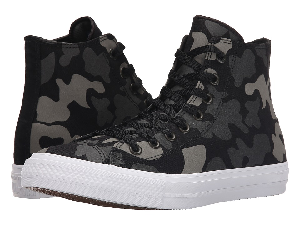 Converse Chuck Taylor All Star II Reflective Camo Americana Hi Charcoal/Black/White Textile Athletic Shoes