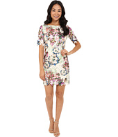 Tahari by ASL Petite - Petite Printed Lace 3/4 Sleeve Dress