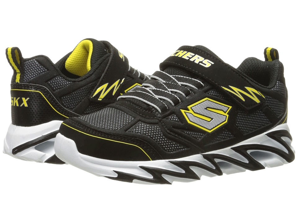 SKECHERS KIDS Fast Volt 95956L Little Kid Black/Yellow Boys Shoes