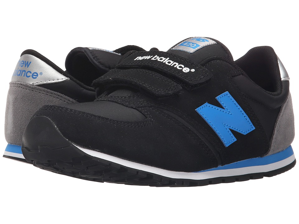 New Balance Kids Classics 420 Little Kid/Big Kid Black/Blue/Grey Boys Shoes