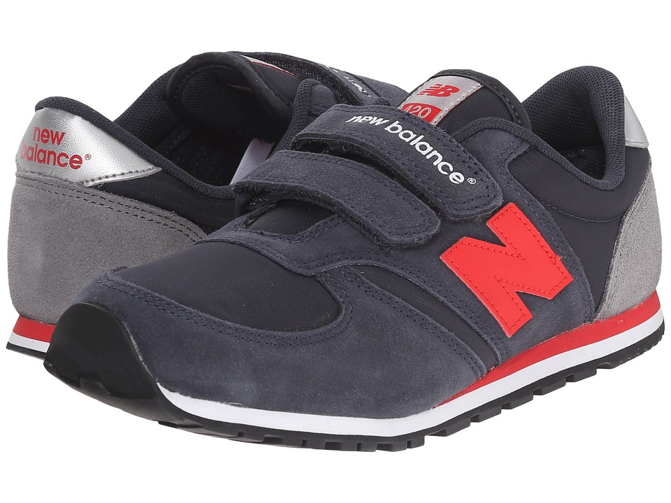 New Balance Kids Classics 420 Little Kid/Big Kid Navy/Red 1 Boys Shoes