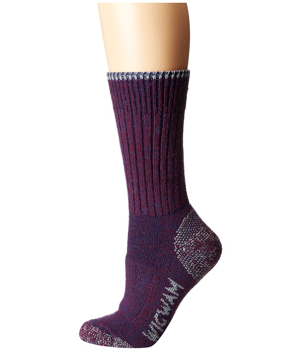 Wigwam All Weather Single Pack Purple Heather Womens Crew Cut Socks Shoes