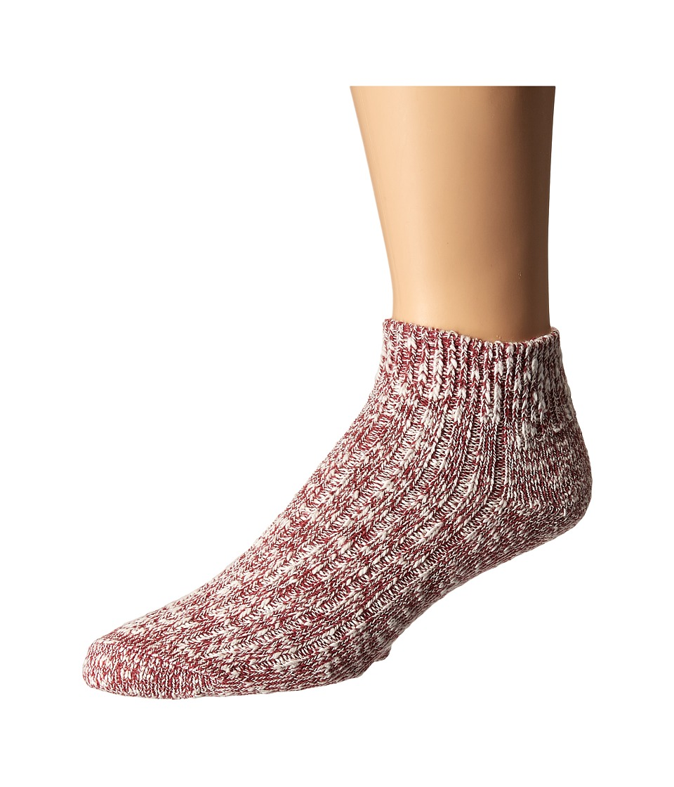 Wigwam - Cypress Quarter Single Pack (White/Red) Quarter Length Socks Shoes