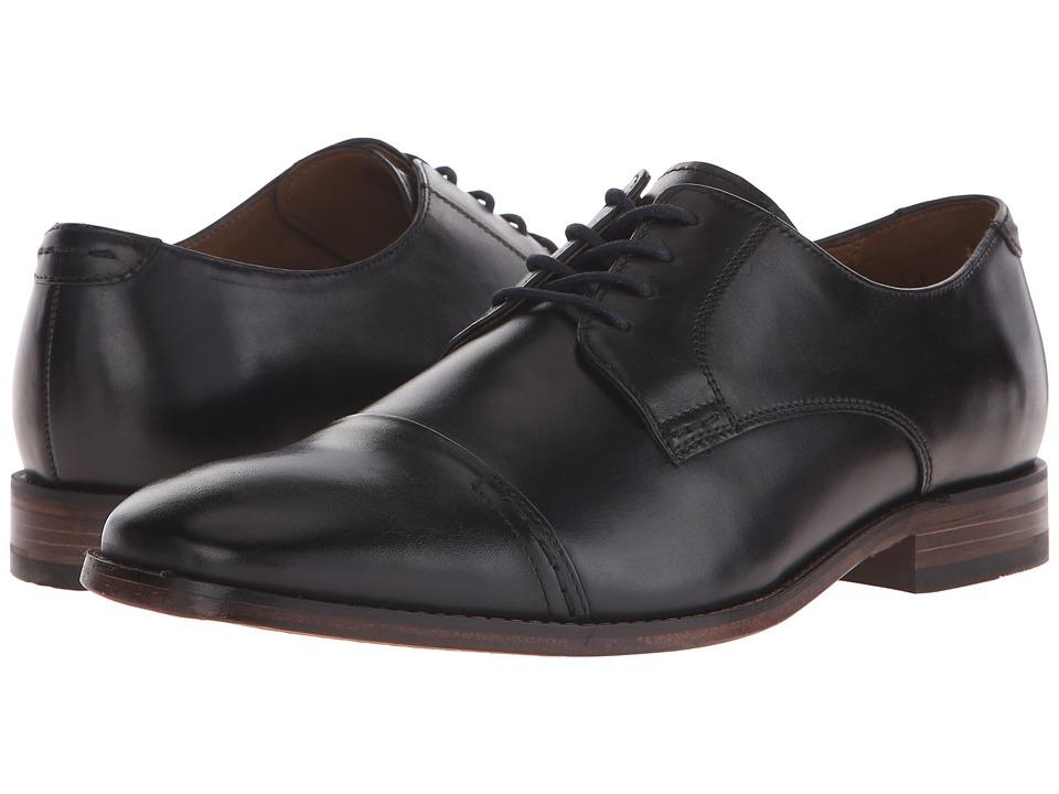 Bostonian Narrate Cap Black Leather Mens Lace Up Cap Toe Shoes