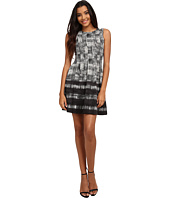 Vince Camuto - Sleeveless Plaid Scuba Fit & Flare