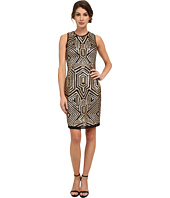 Vince Camuto - Sleeveless Geometric Sequin Sheath