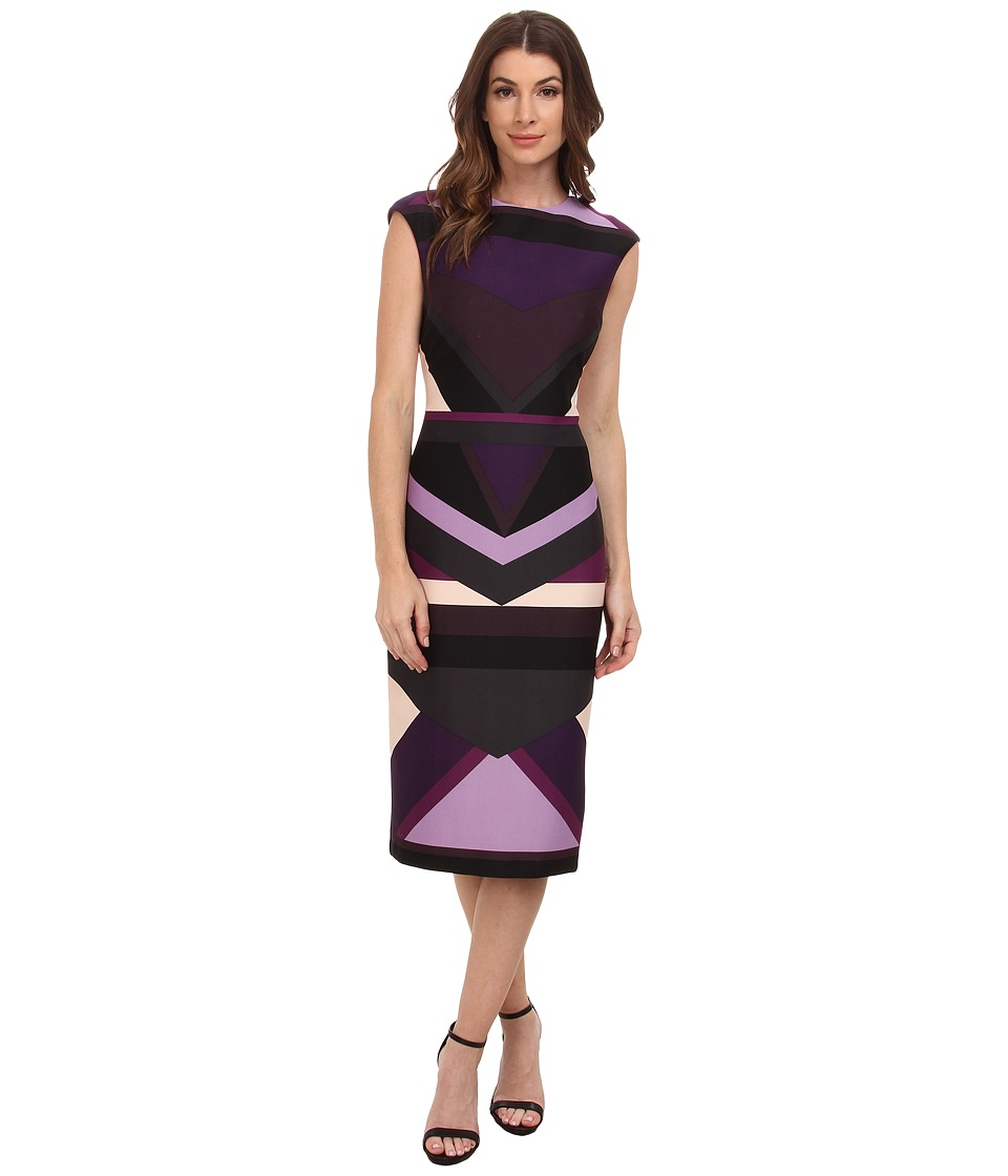 Vince Camuto Cap Sleeve Sheath Dress (Print) Women