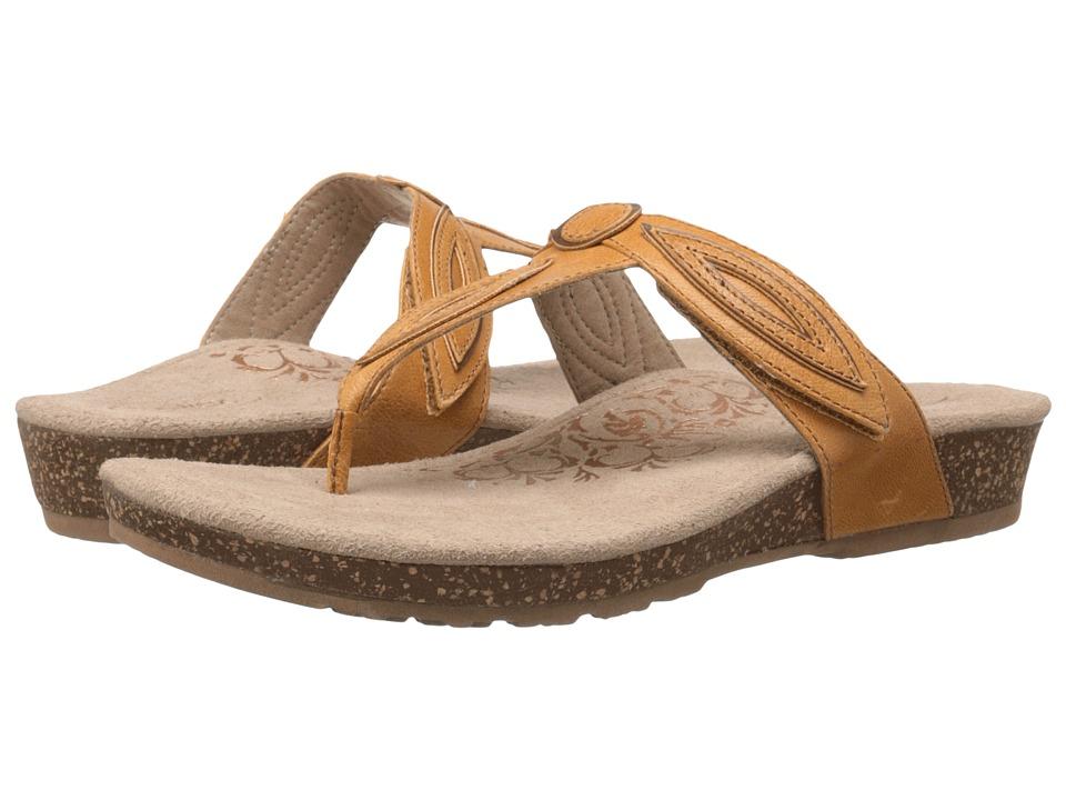 Aetrex Terri Mustard Womens Sandals