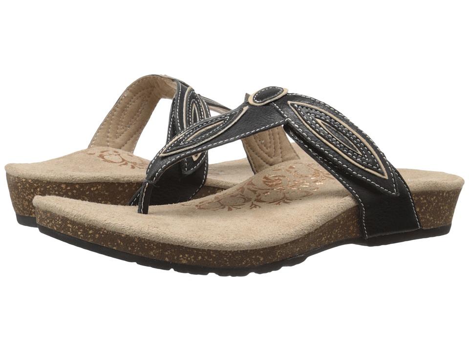 Aetrex Terri Black Womens Sandals