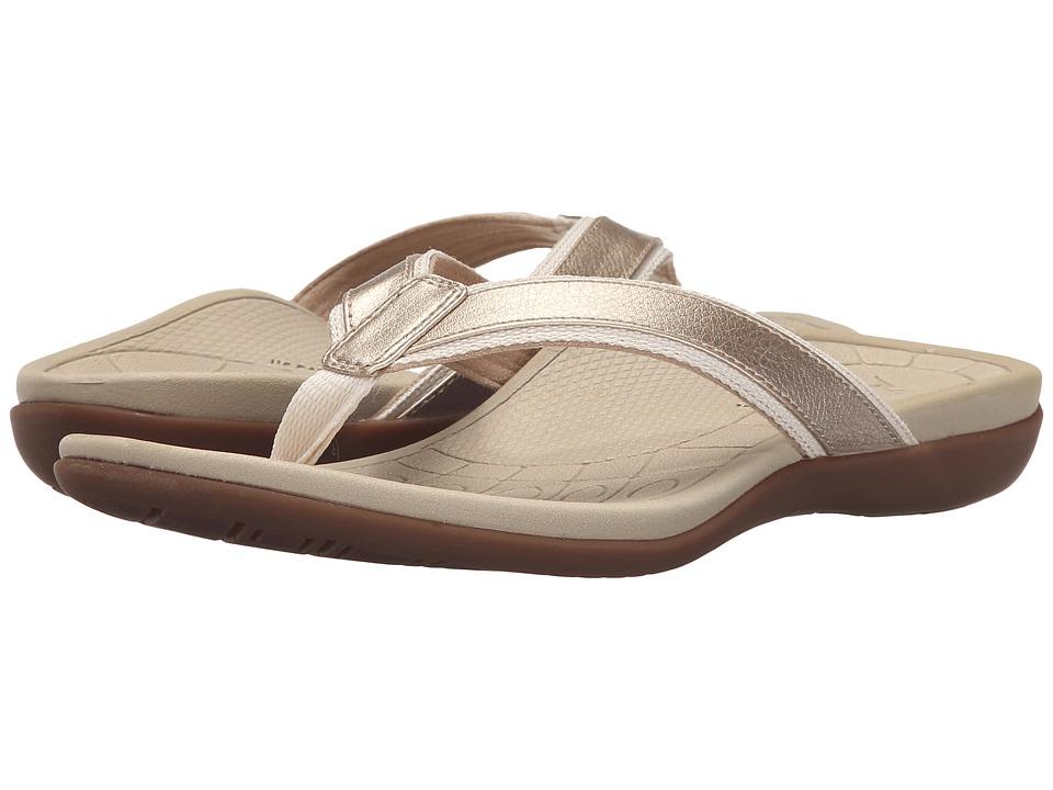 Aetrex Venus Cream Womens Sandals