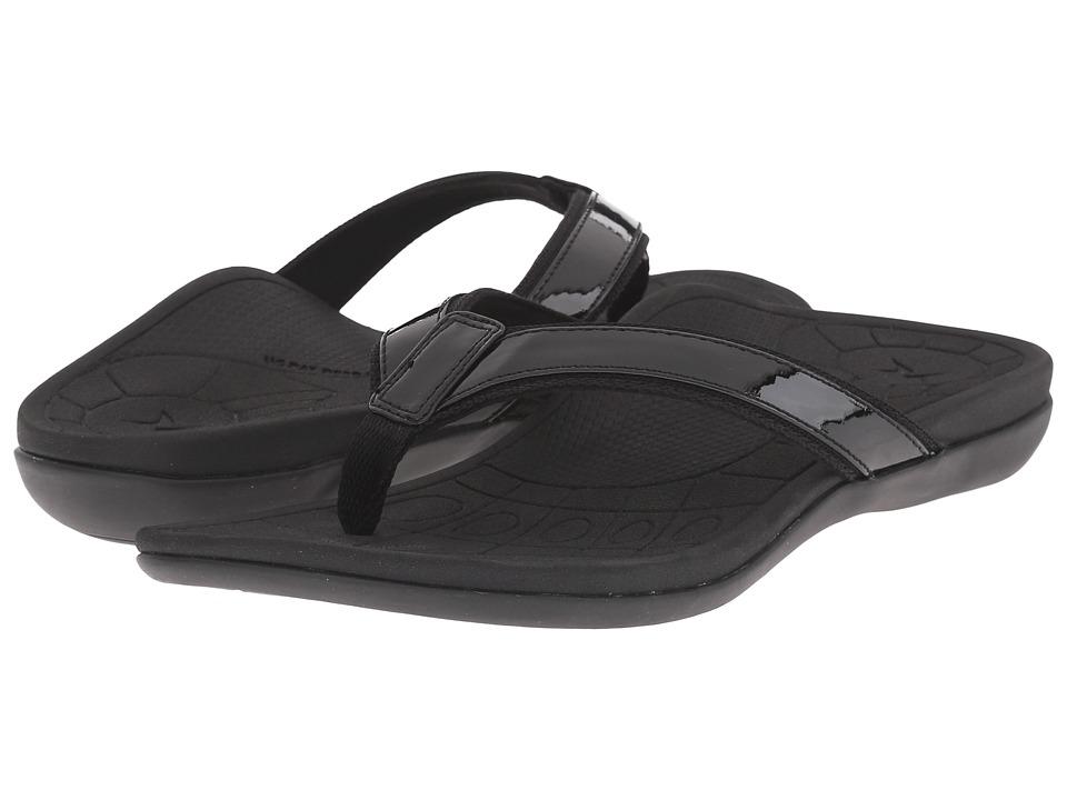 Aetrex Venus Black Womens Sandals