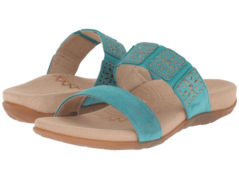 Aetrex Macy Teal Womens Sandals