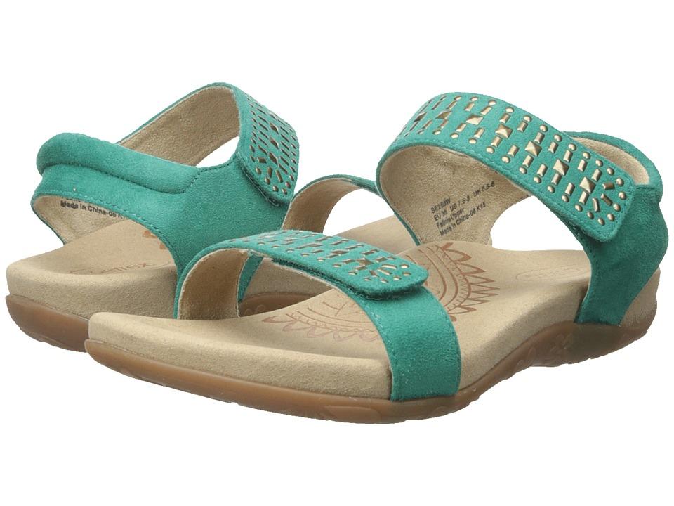 Aetrex Maria Teal Womens Sandals