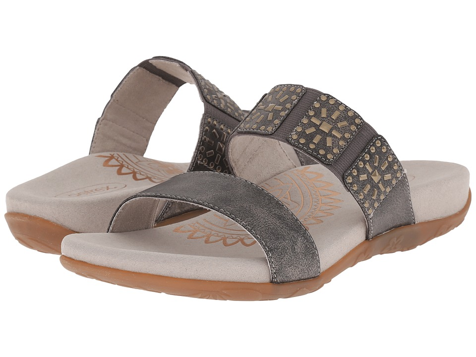 Aetrex Macy Pewter Womens Sandals