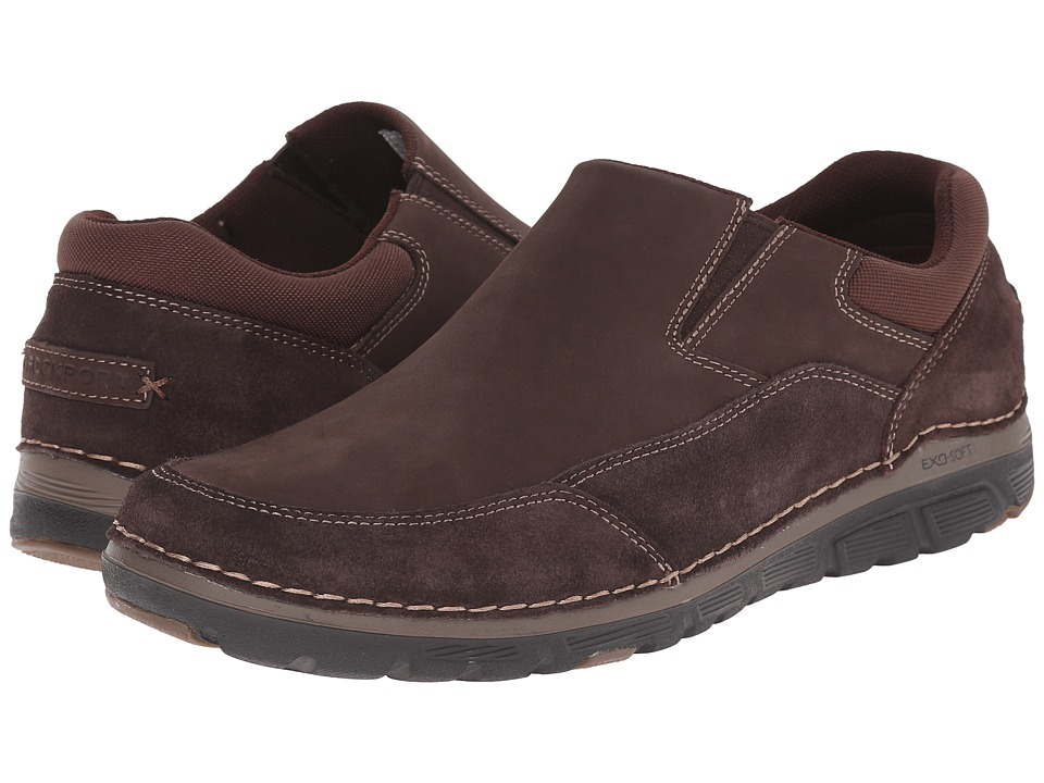 Rockport Zonecrush Rocsport Lite MDGSO Chocolate Mens Slip on Shoes