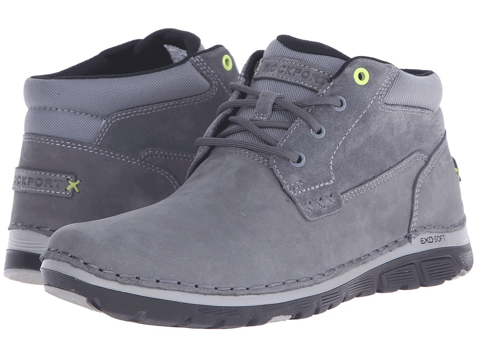 Rockport Zonecrush Rocsport Lite Plain Toe Boot (Castlerock Grey) Men