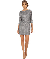 Aidan Mattox - Beaded 3/4 Sleeve Cocktail Dress