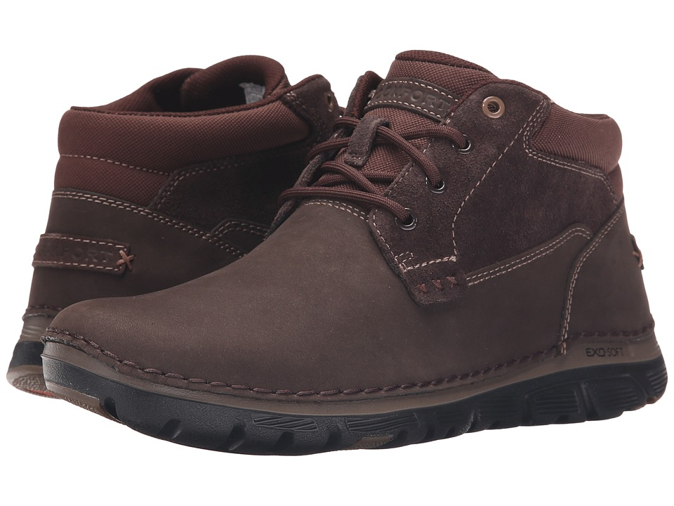 Rockport Zonecrush Rocsport Lite Plain Toe Boot Chocolate Mens Lace up Boots