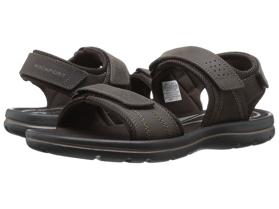 Rockport - Get Your Kicks Sandals QTR Strap (Coffee) Men