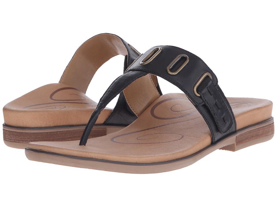 Aetrex Zara Black Womens Sandals