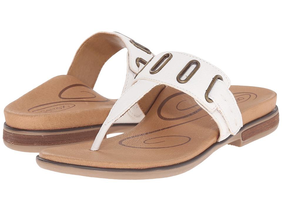 Aetrex Zara Antique White Womens Sandals