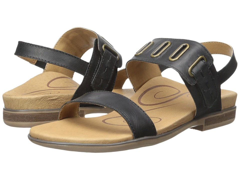 Aetrex Eileen Black Womens Sandals