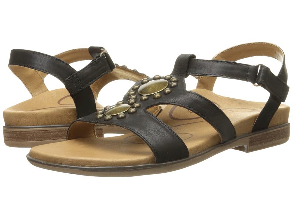 Aetrex Vivian Black Womens Sandals