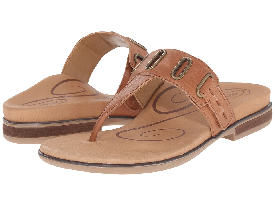 Aetrex Zara Cognac Womens Sandals
