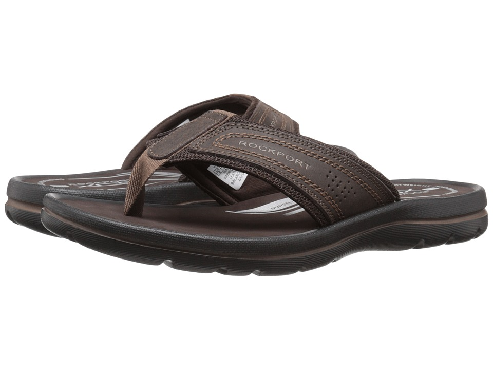 Rockport - Get Your Kicks Sandals Thong (Coffee) Men