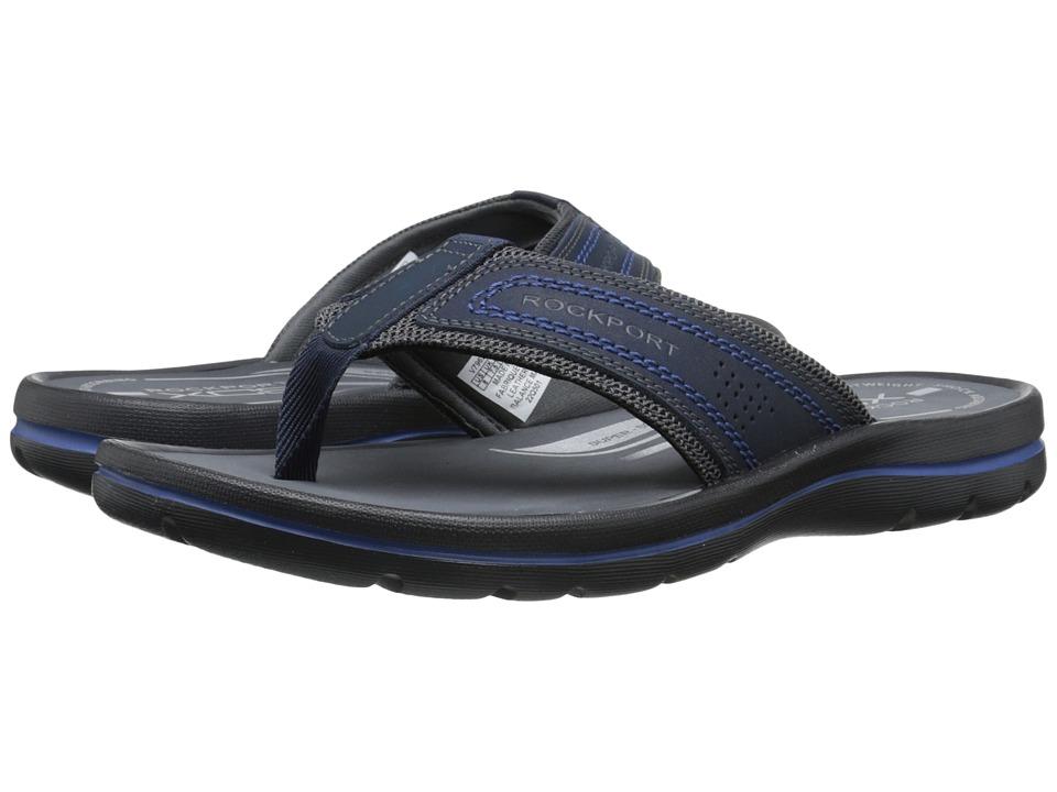 Rockport Get Your Kicks Sandals Thong Navy/Blue Mens Sandals