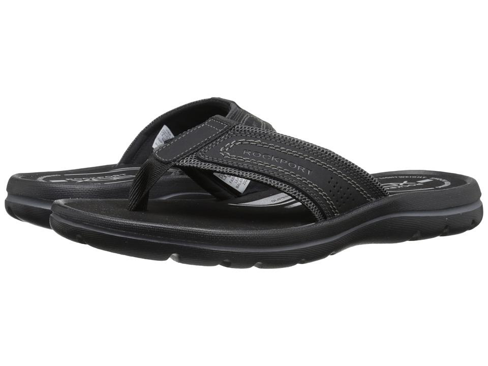 Rockport - Get Your Kicks Sandals Thong (Black/Grey) Men