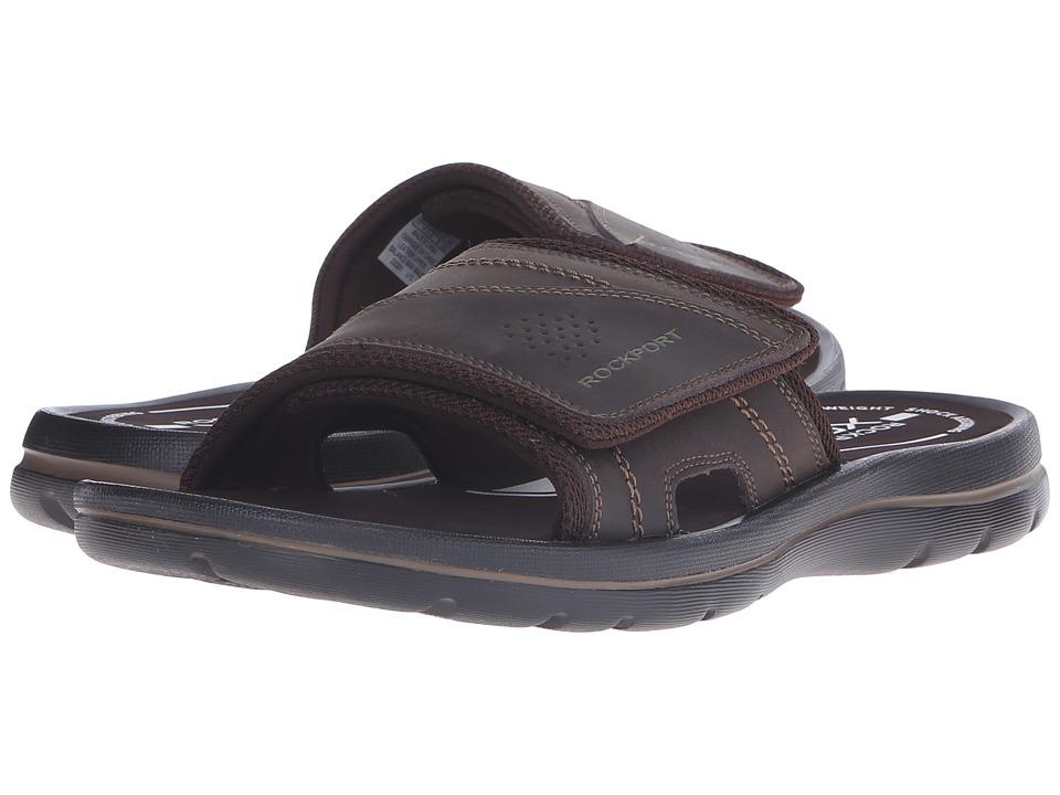 Rockport - Get Your Kicks Sandals Hook and Loop Slide (Coffee) Men