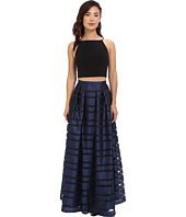 Aidan Mattox - Ball Skirt w/ Illusion Panels and Stretch Halter Top