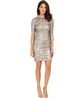 Adrianna Papell - Sequin Shift Dress w/ Necklace
