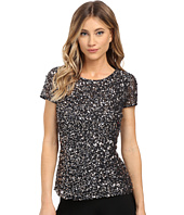 Adrianna Papell - Cap Sleeve Fully Beaded Mesh Blouse