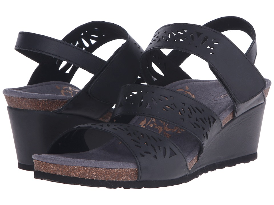 Aetrex Lexi Wedge Sandal (Black) Women